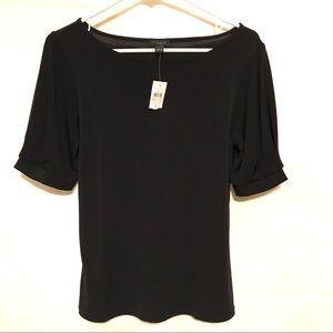 Silky Ann Taylor Black S Short sleeved top